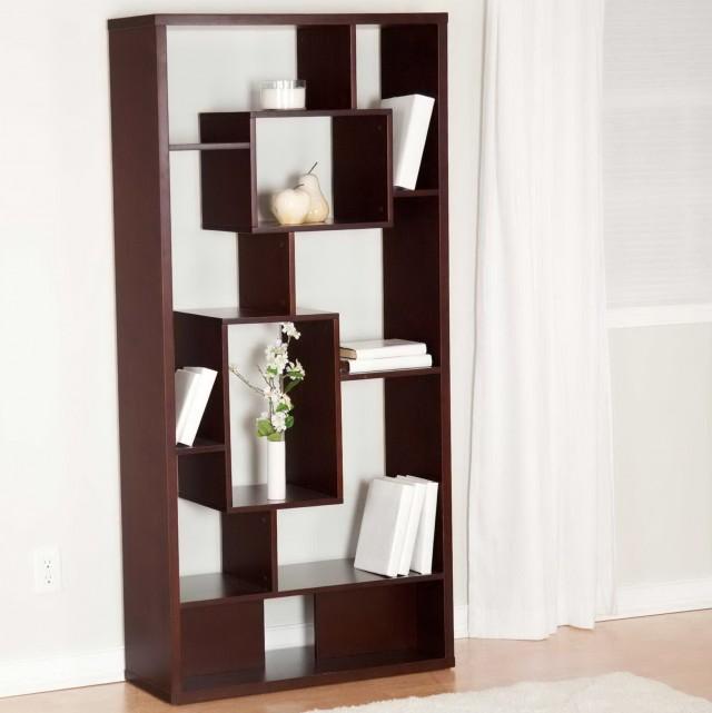 Wood Room Divider Bookcase