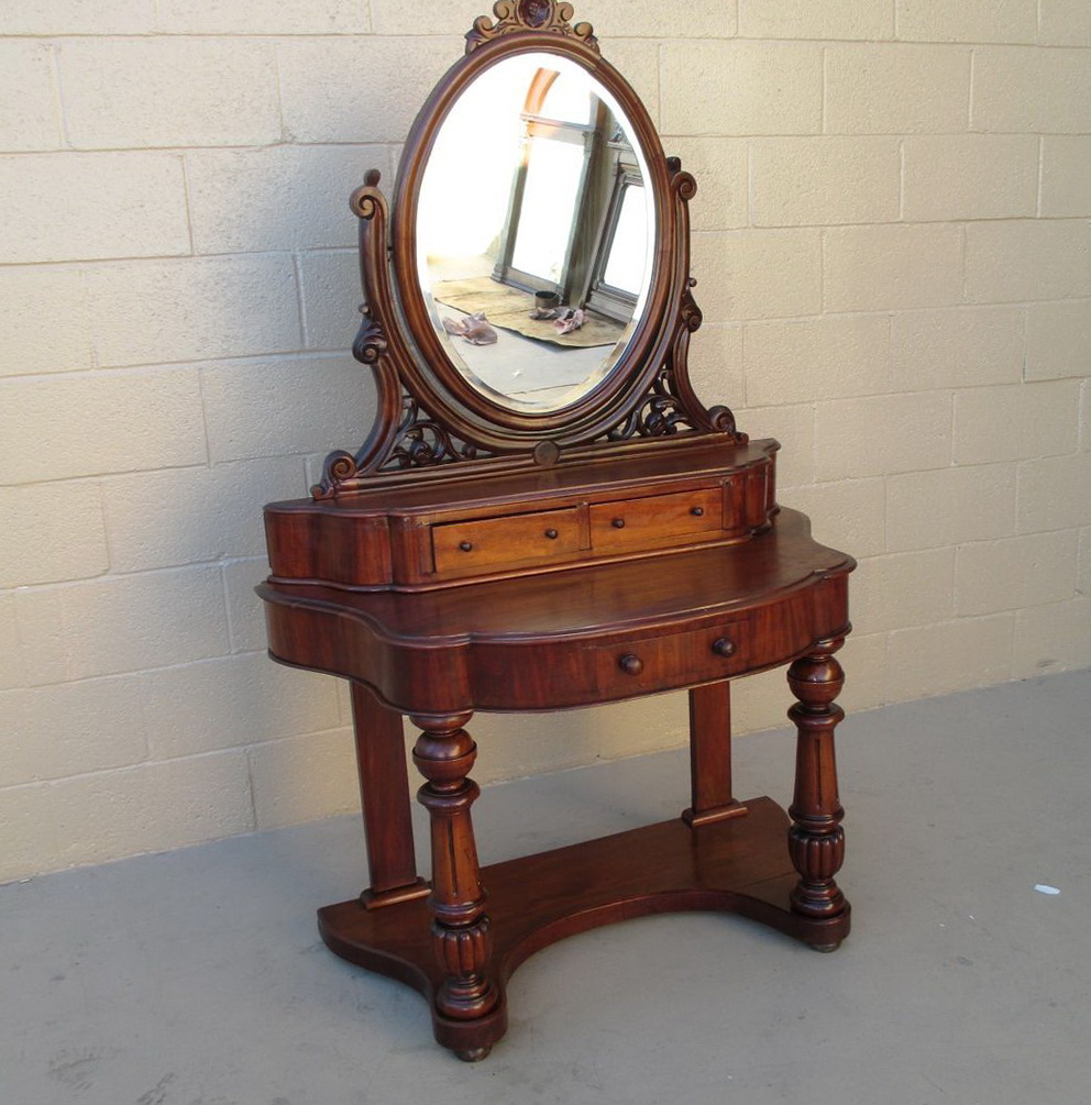 Permalink to Antique Vanity Dresser With Mirror