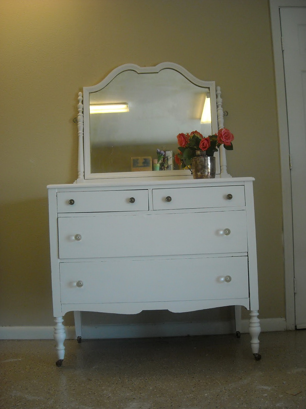 Permalink to Antique White Dresser With Mirror
