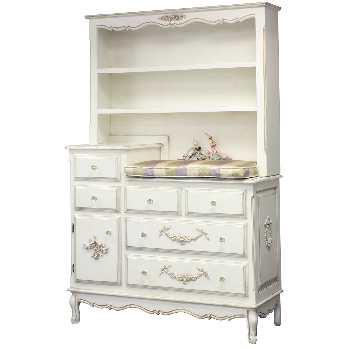 Baby Changing Table Dresser With Hutch