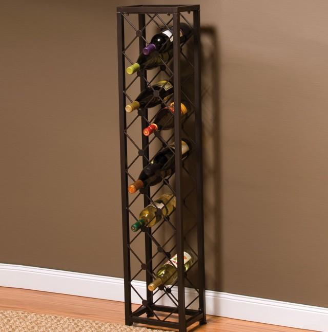 Black Wine Rack Tower