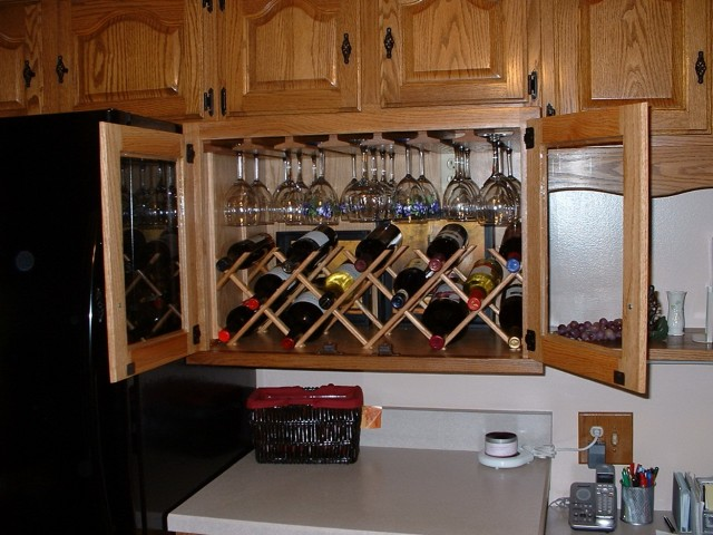 built in wine rack cabinet