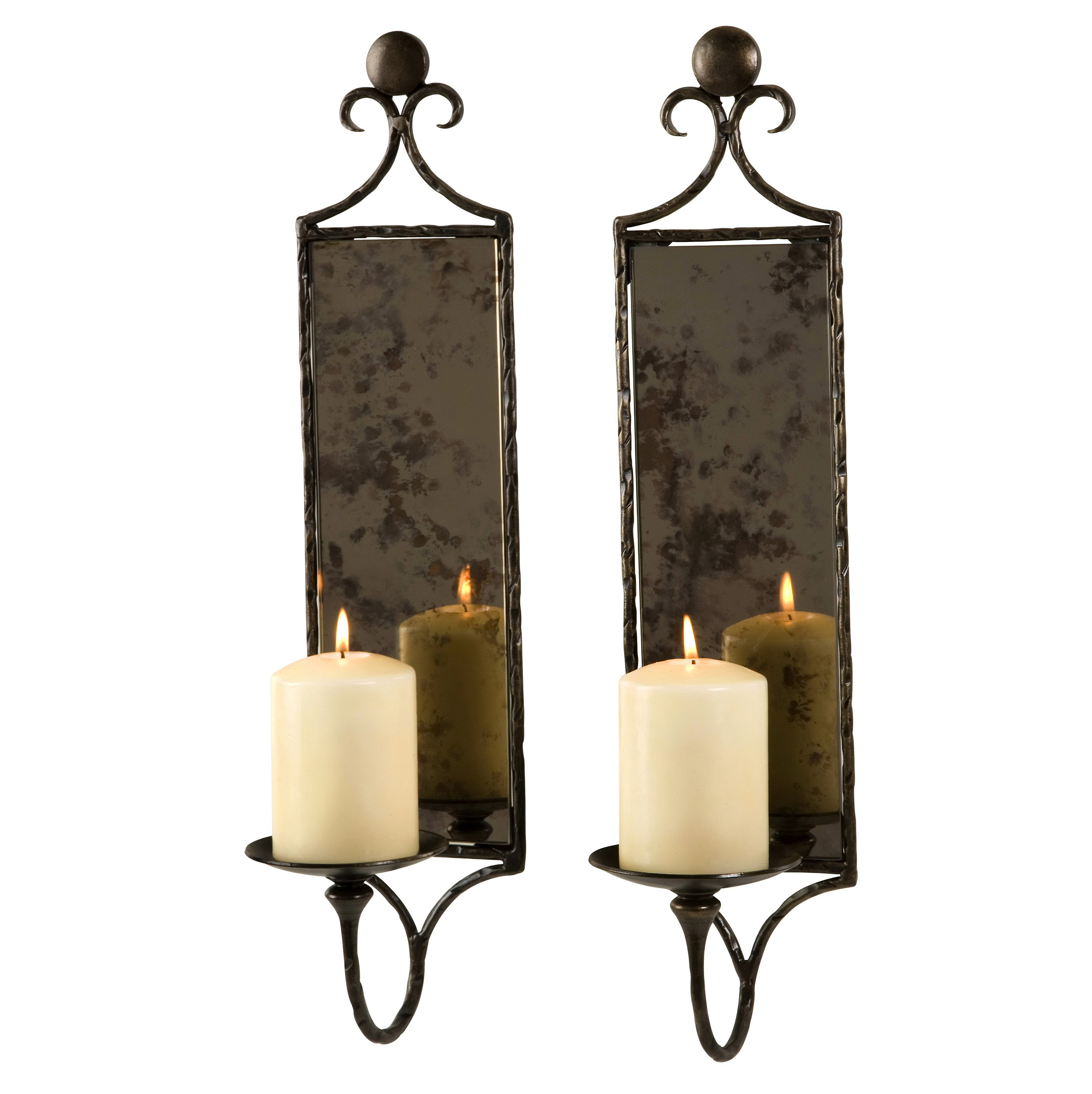 Endearing 50 Mirrored Wall Sconce Candle Holder Design