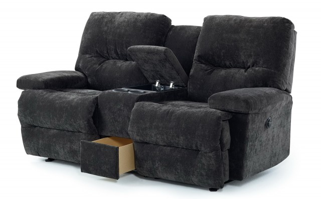 Leather Loveseat Recliner With Console Home Design Ideas
