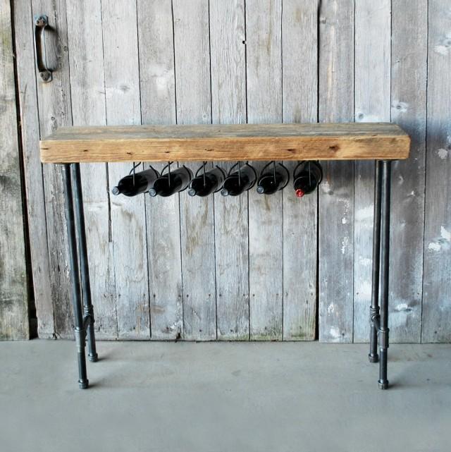 Rustic Wine Rack Table