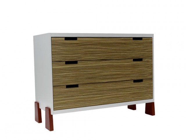 Three Drawer Dresser Bedroom Furniture