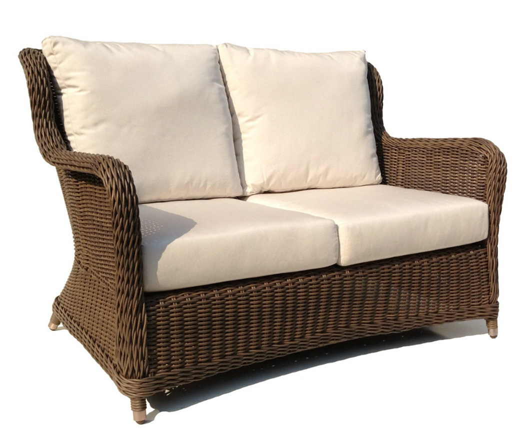 loveseat loveseats brown spring replacement with bay hampton all patio outdoor sky cushions p blue haven weather wicker