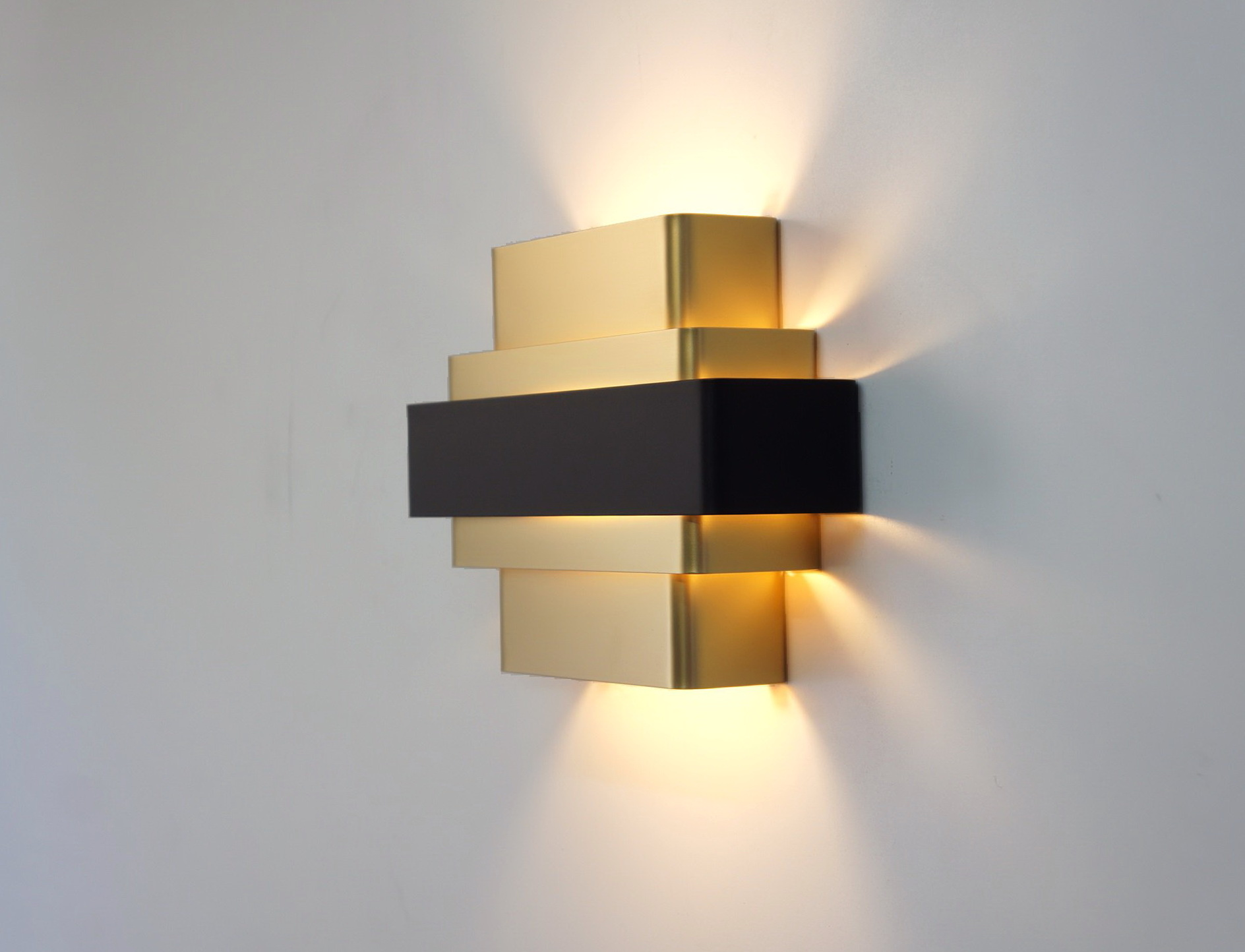 Black And Gold Wall Sconce