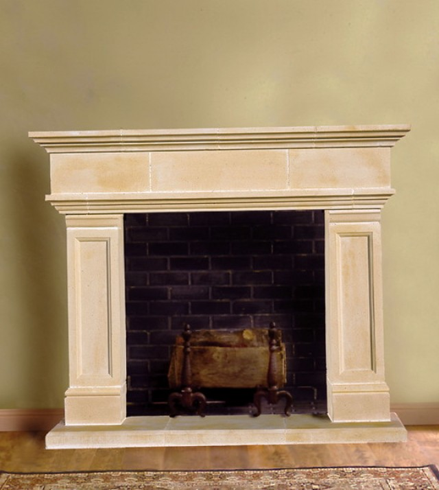 Faux Cast Stone Fireplace | Home Design Ideas