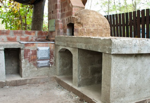 outdoor fireplace plans cinder - photo #10