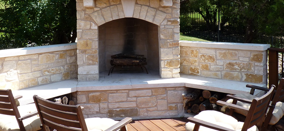 Corner Outdoor Fireplace Kits Home Design Ideas