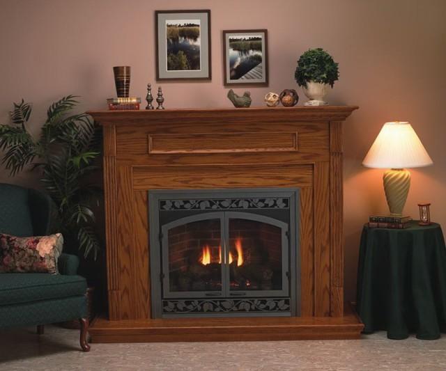 Corner Ventless Propane Gas Fireplaces
