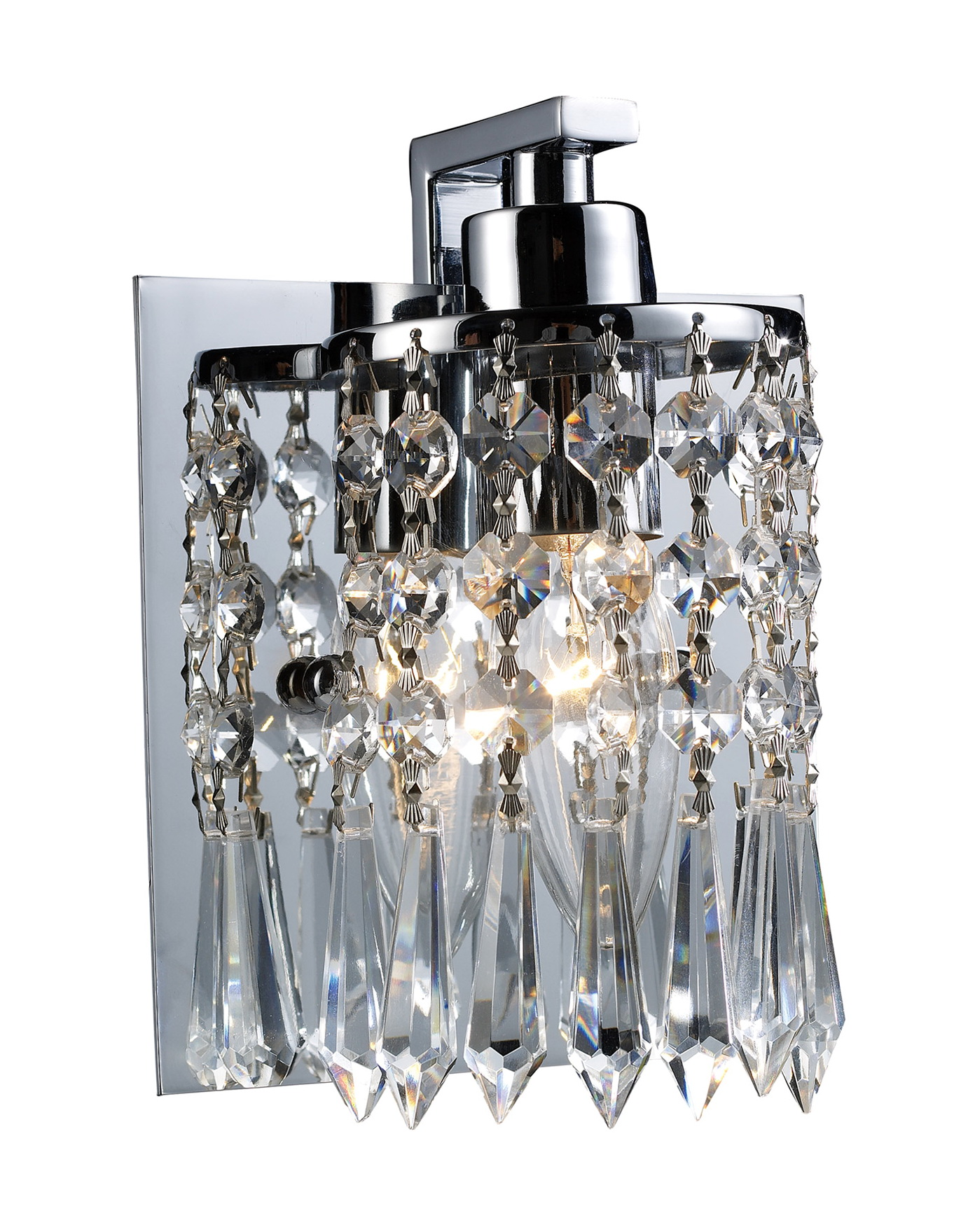 Crystal Wall Sconces With Shades Gleaming Gold Finish