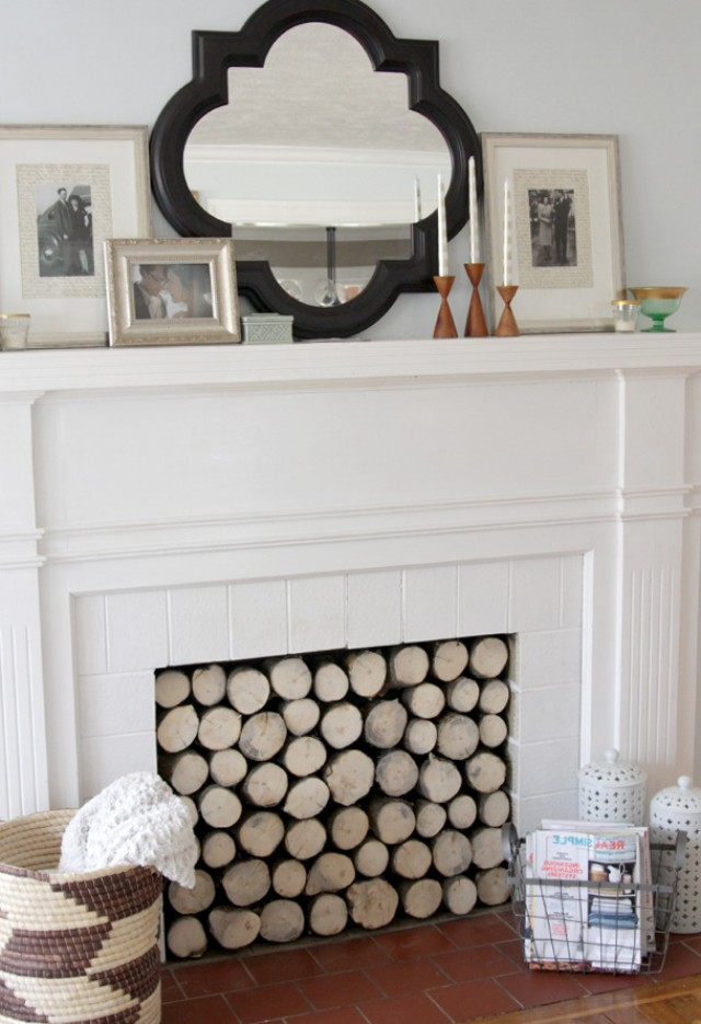 How To Arrange Fake Logs In Gas Fireplace | Home Design Ideas