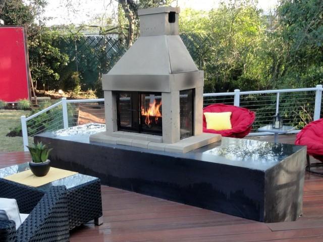 Prefab outdoor fireplace kits sale home design ideas for Prefabricated outdoor fireplace kits