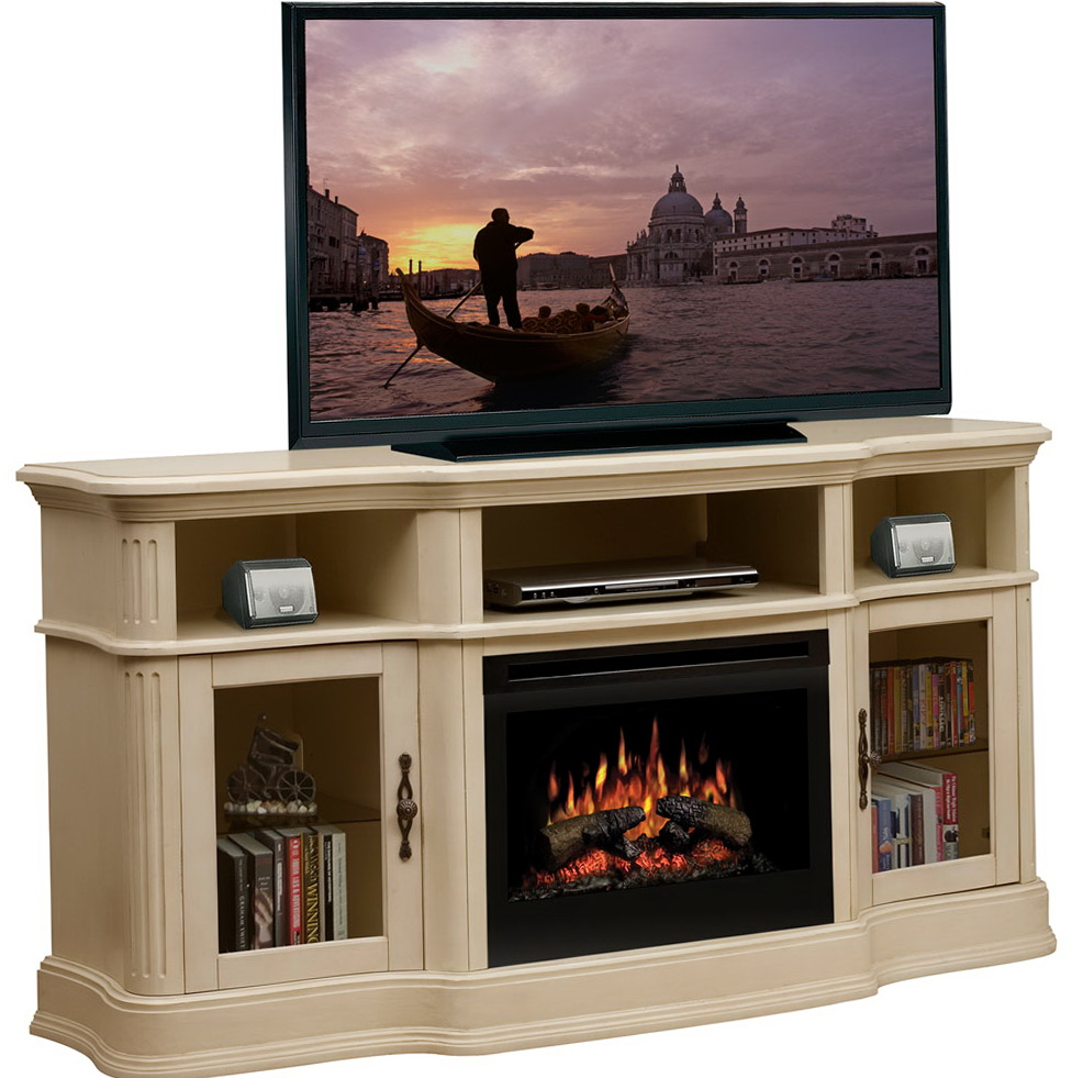 center with electric fireplace at big lots