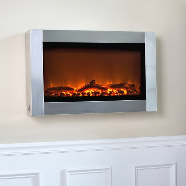 Fire Sense Wall Mounted Electric Fireplace