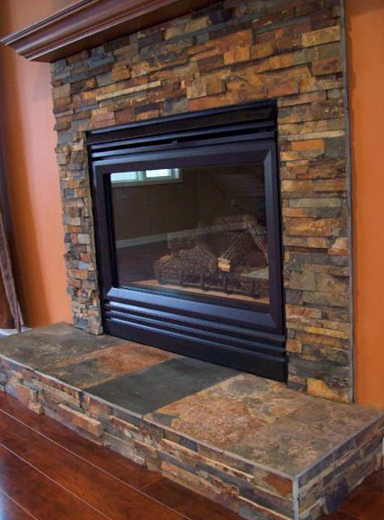 Fireplace Hearth Ideas With Tiles Or Slate Home Design