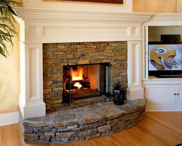 Fireplace raised hearth ideas home design ideas for Fireplace and hearth designs