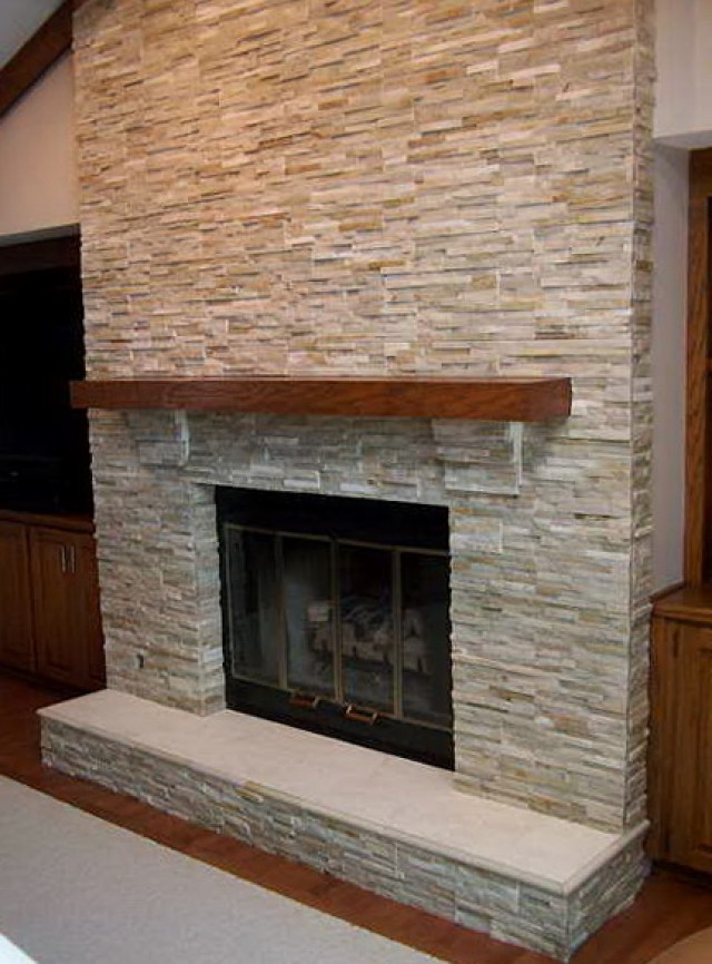 Stone Tile Fireplace Ideas Home Design Ideas