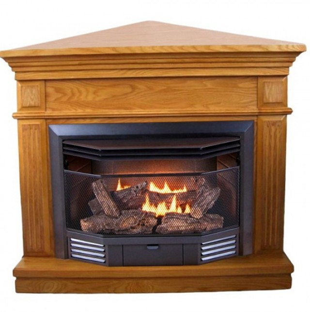 Corner Natural Gas Fireplace Ventless | Home Design Ideas