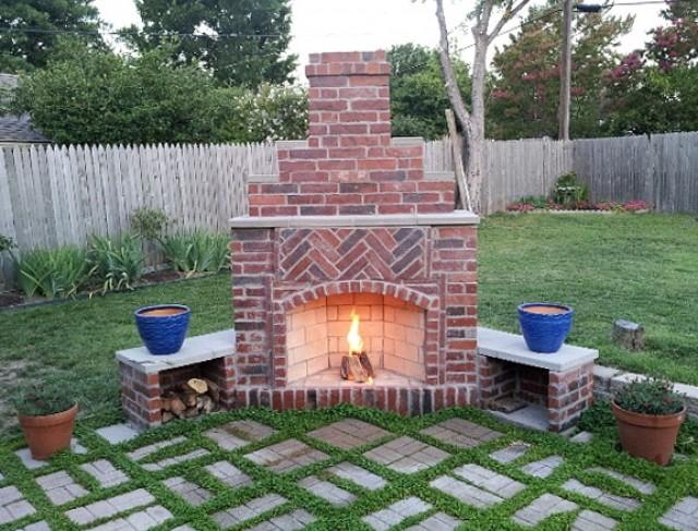 Brick Outdoor Fireplace Plans | Home Design Ideas