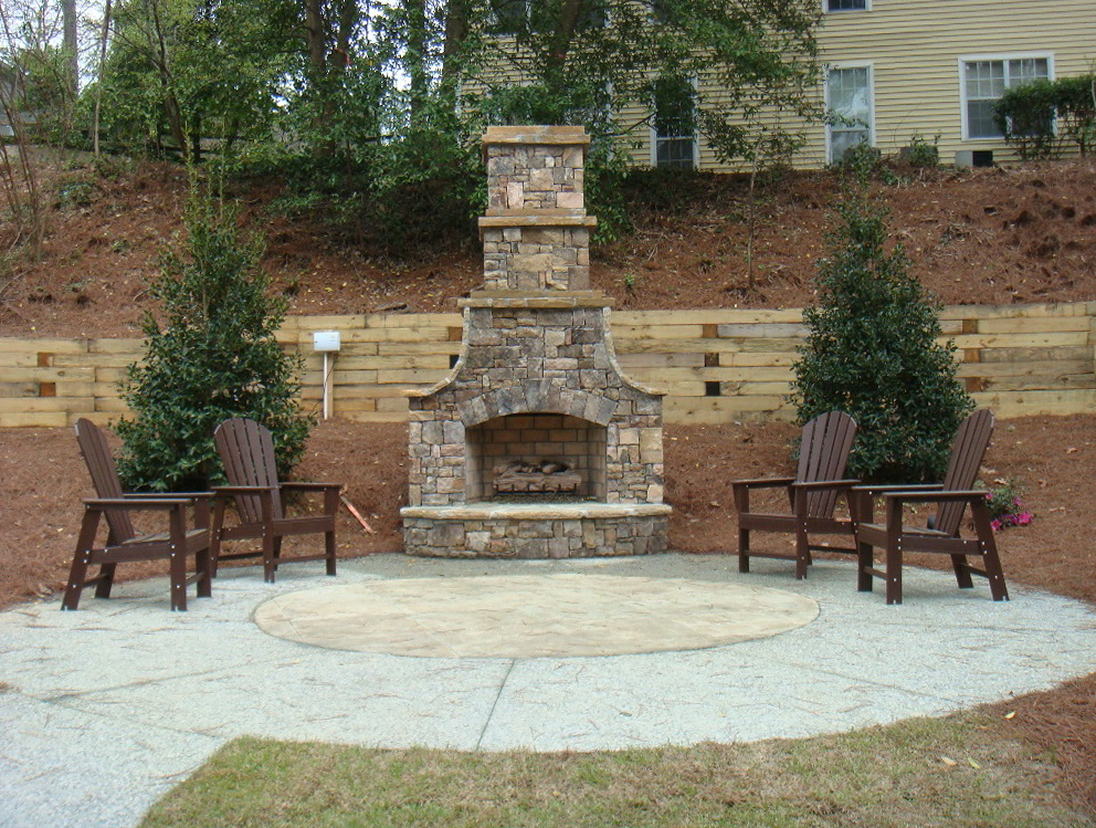 Outdoor fireplace kits lowes home design ideas for Where to buy outdoor fireplace