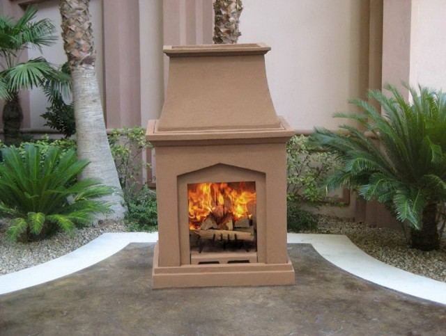 Prefab outdoor wood burning fireplace home design Prefab outdoor wood burning fireplace