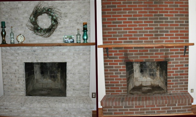 painting a brick fireplace before and after photos home design ideas. Black Bedroom Furniture Sets. Home Design Ideas