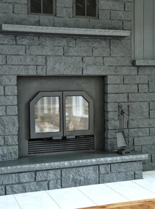 Painting A Brick Fireplace Gray