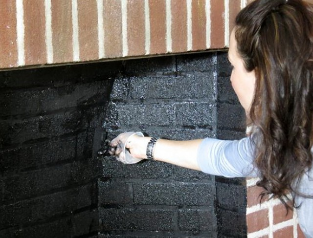 Painting The Inside Of A Brick Fireplace