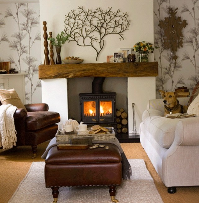 Rustic Stone Fireplace Mantels Home Design Ideas
