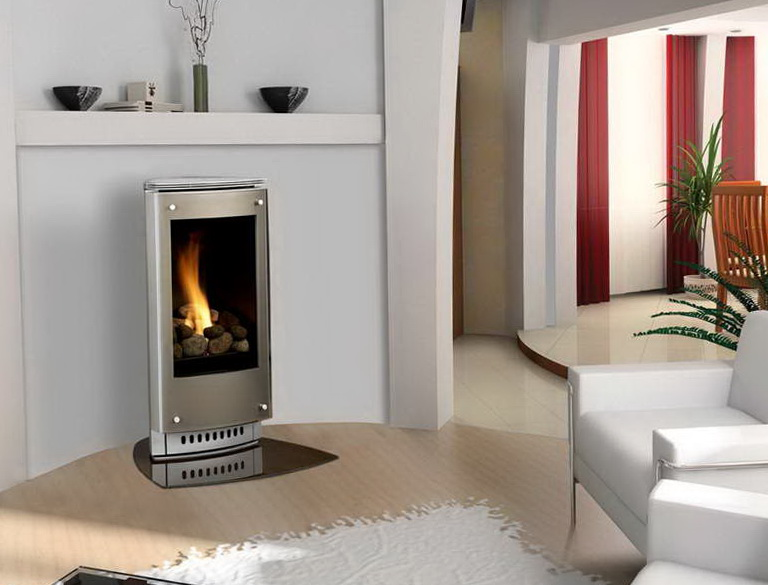 very small gas fireplace home design ideas