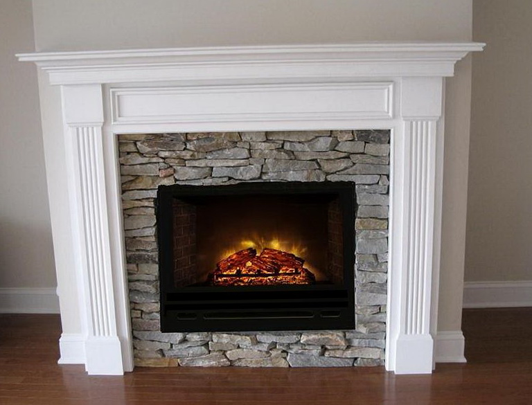 White Stone Electric Fireplace Home Design Ideas