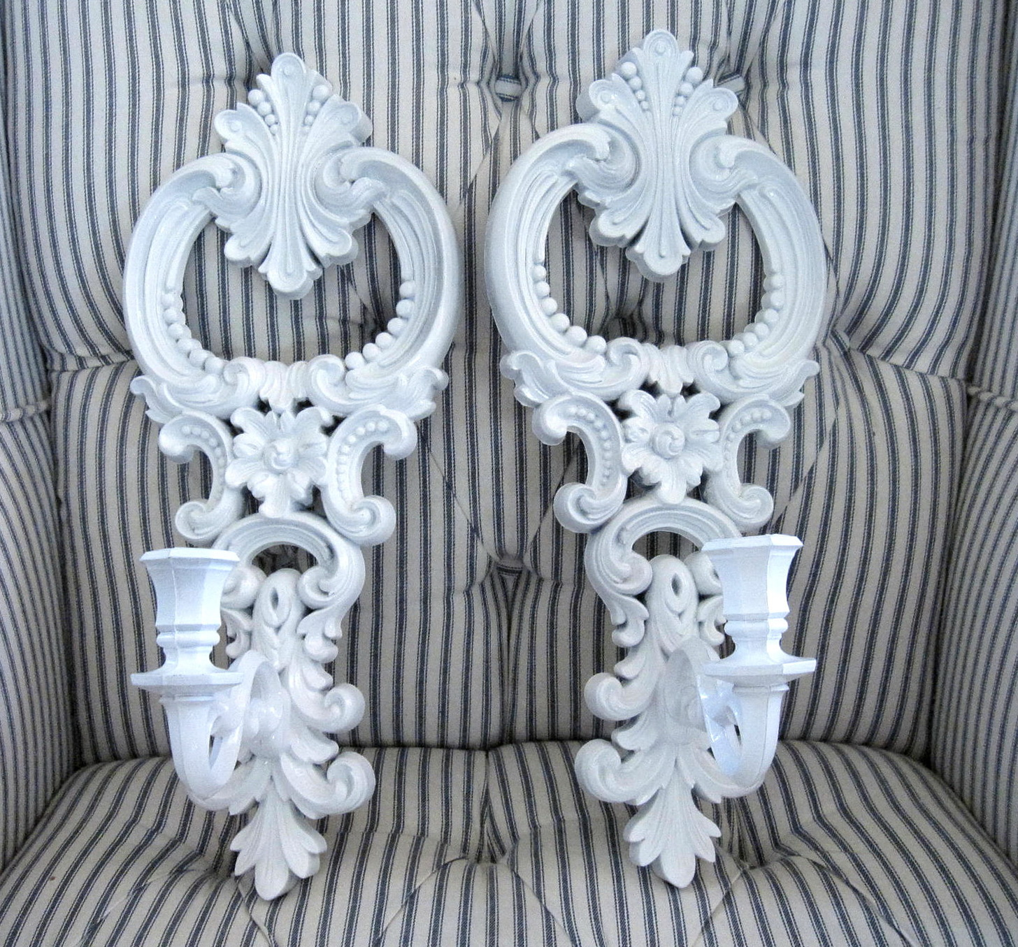 Permalink to White Wall Sconce Candle Holders