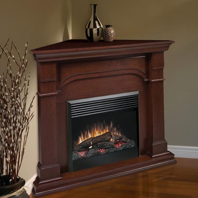 42 Corner Cherry Electric Fireplace