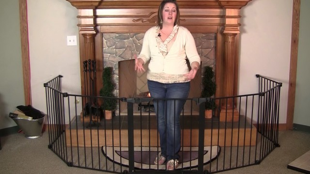 baby gate for around fireplace