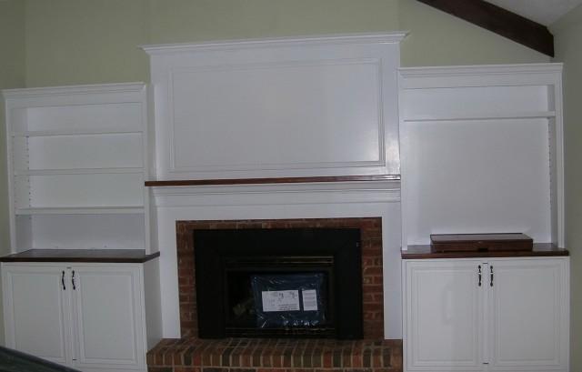 Built In Media Center Around Fireplace