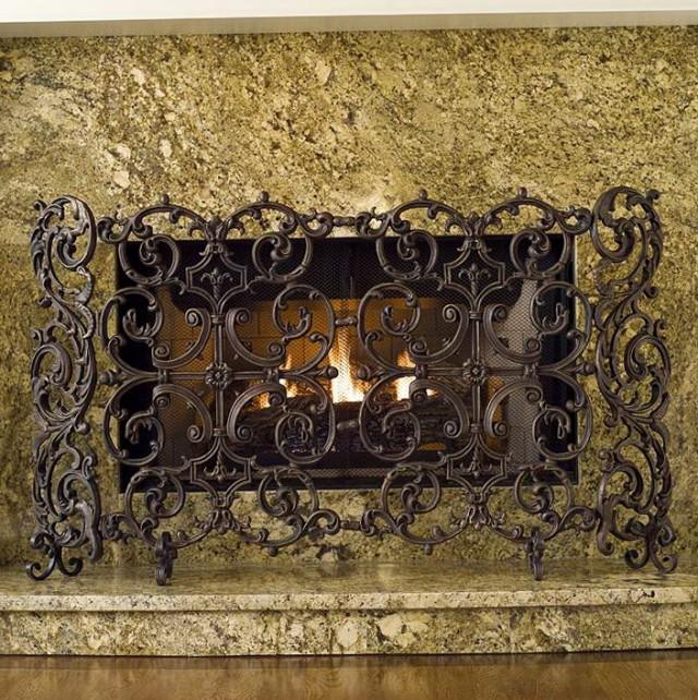 Cast Iron Fireplace Screens