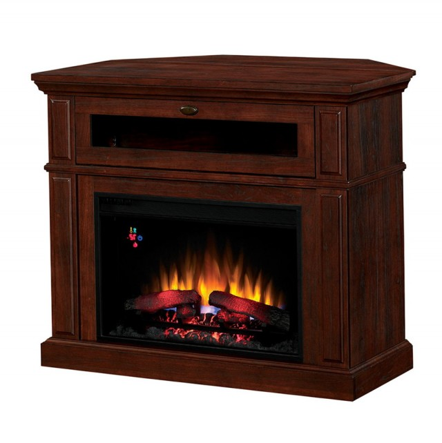 Cherry Wood Electric Fireplace
