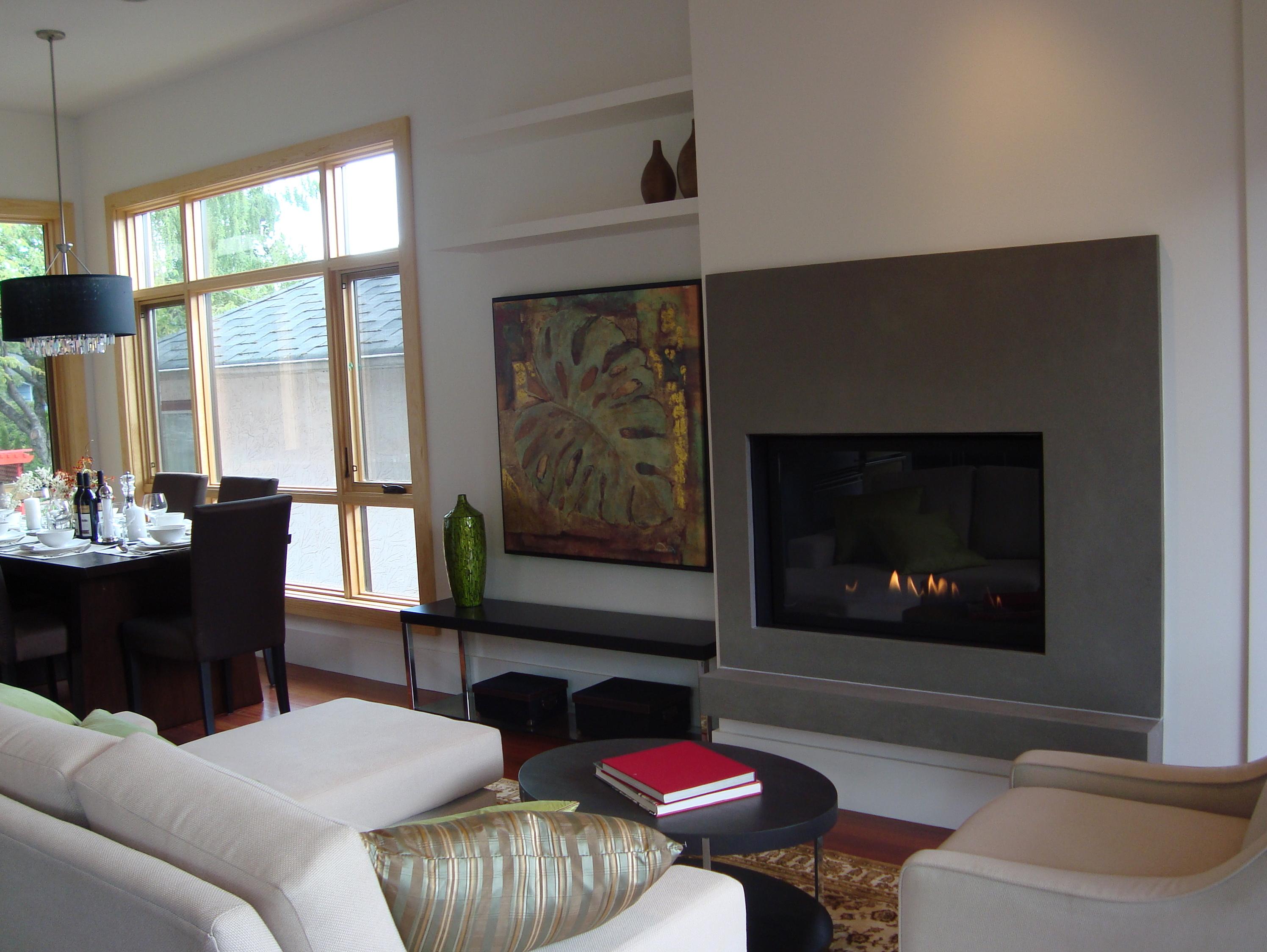 travertine concrete surround fireplace surrounds