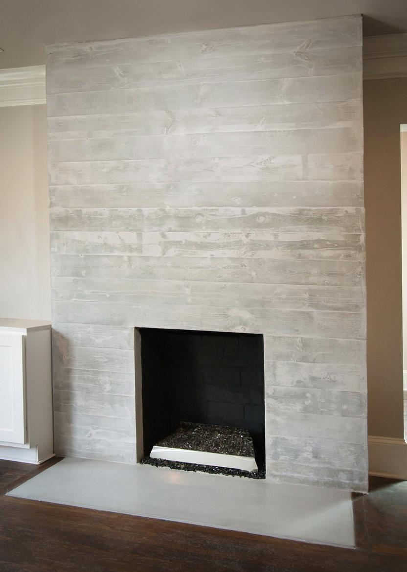 Concrete Fireplace Surround Diy Home Design Ideas