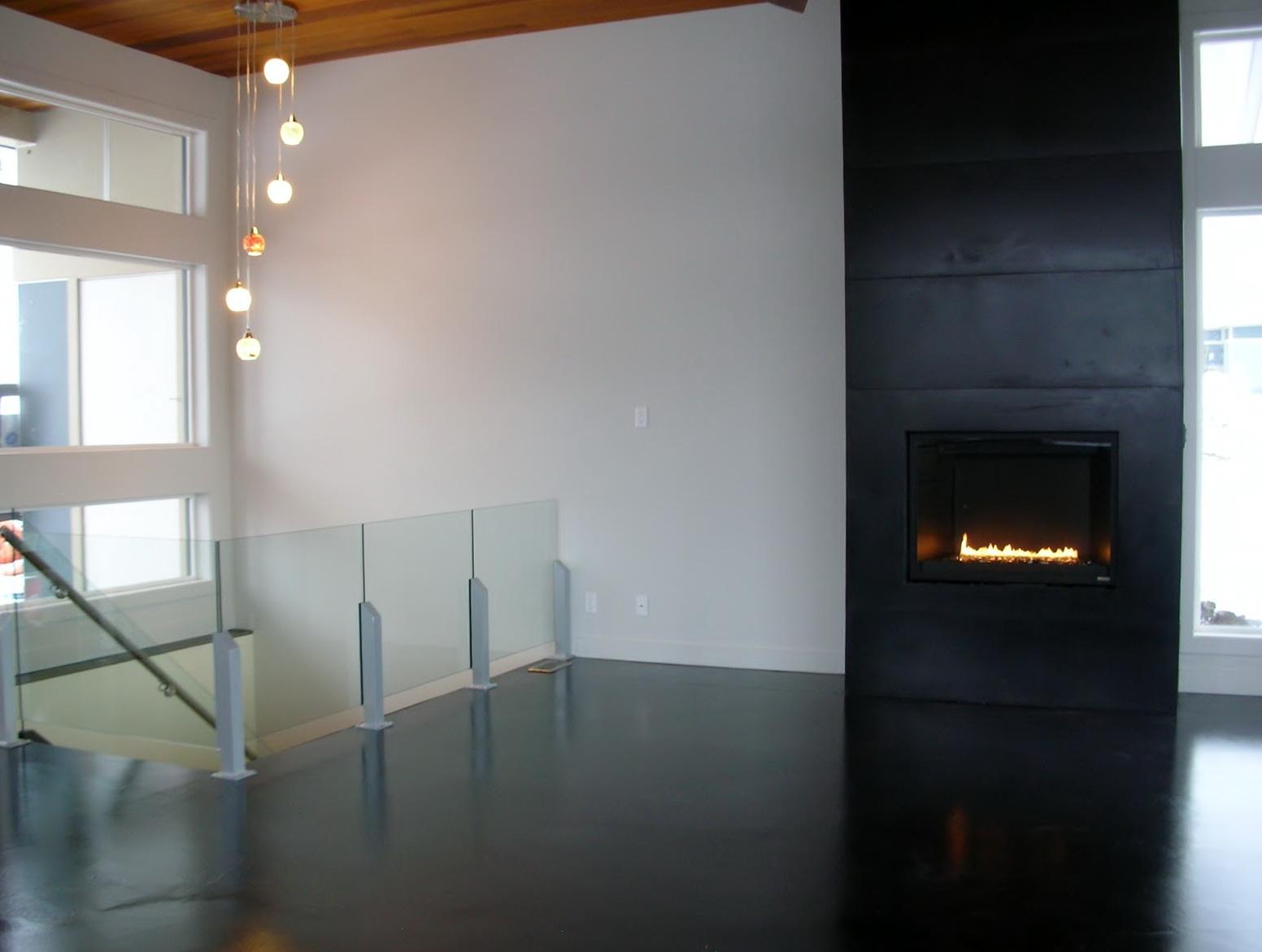 Concrete Tile Fireplace Surround
