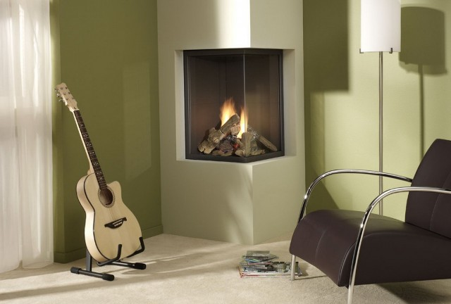 Contemporary Corner Electric Fireplace