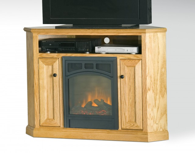 Black Corner Tv Stand With Fireplace