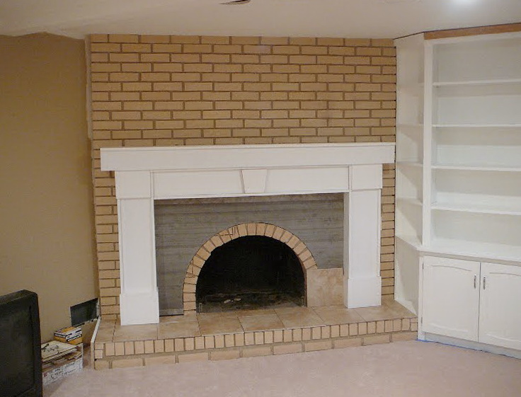 Covering Brick Fireplace With Drywall Home Design Ideas