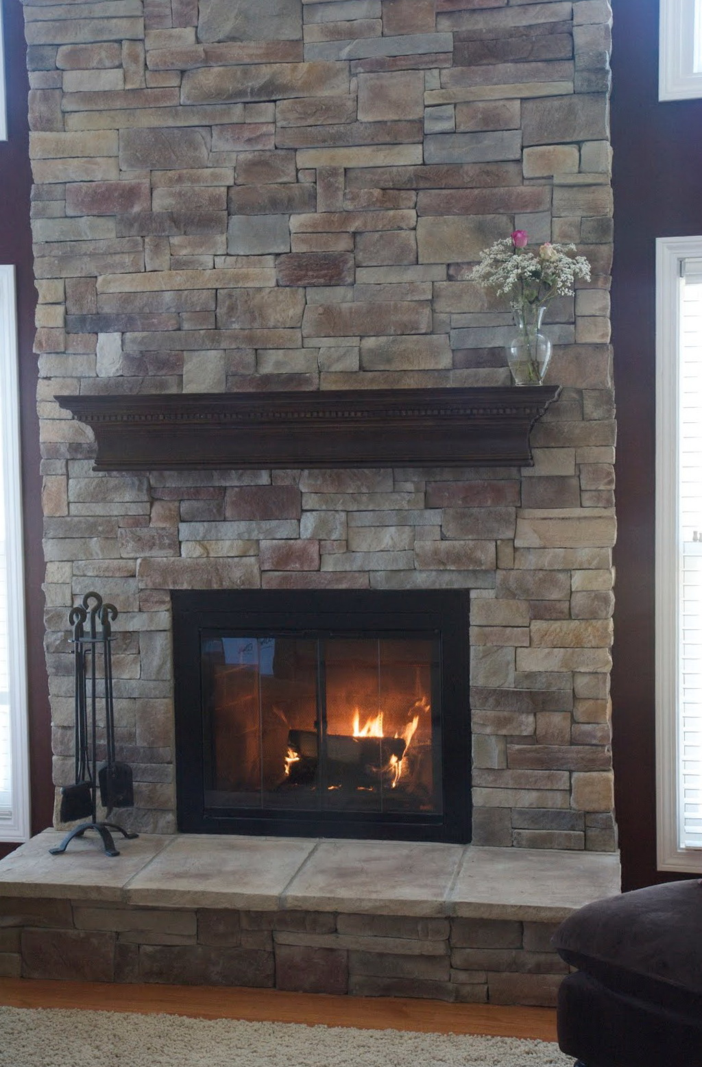Covering Brick Fireplace With Stone Home Design Ideas