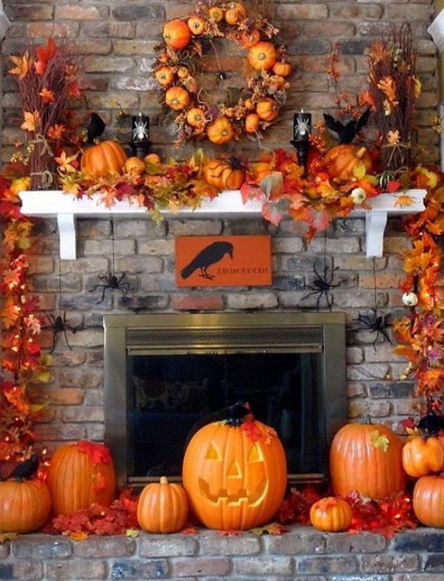 Fall Fireplace Mantel Decorations Home Design Ideas