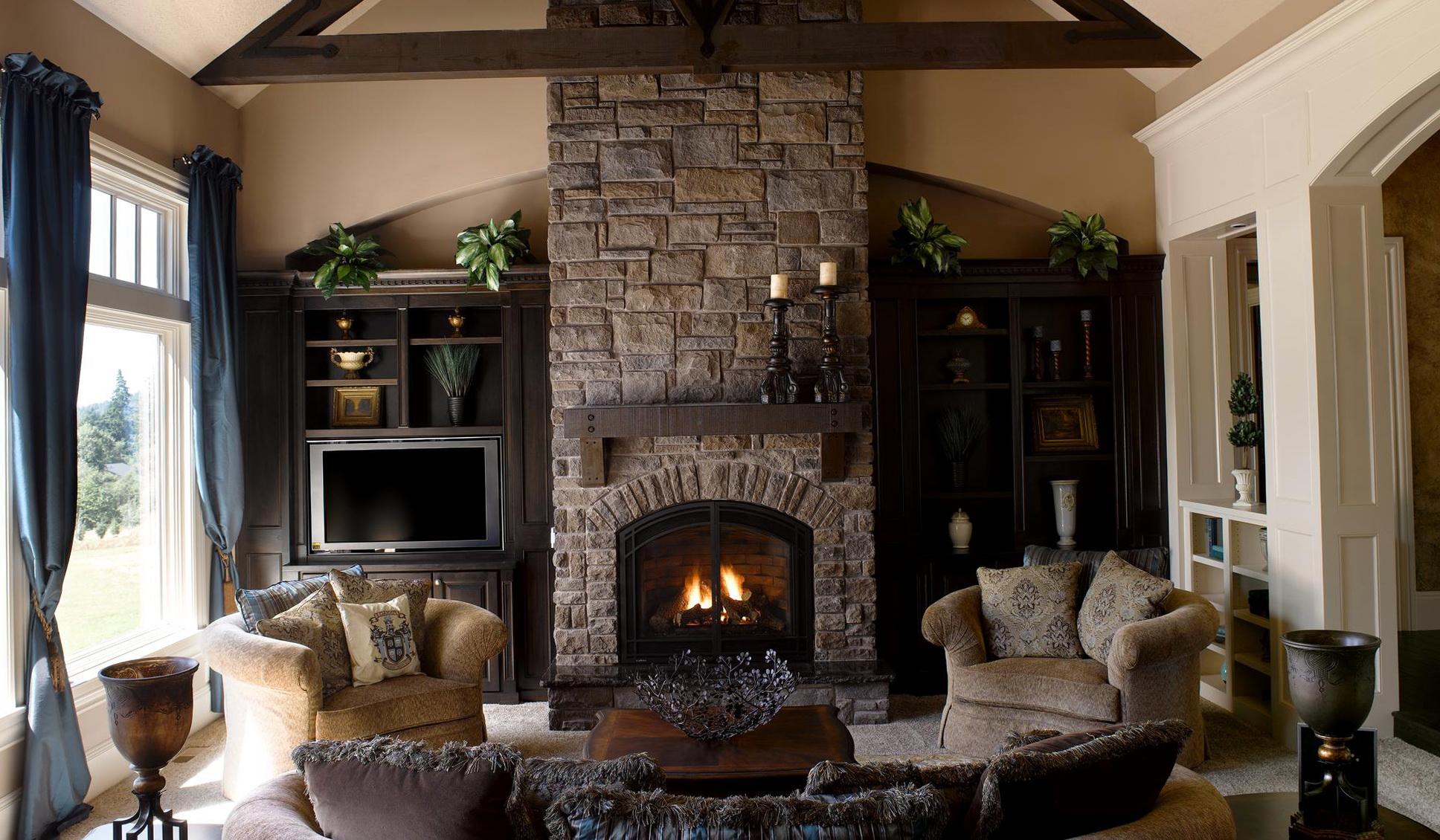 Eldorado Stone Fireplace Hearth Home Design Ideas
