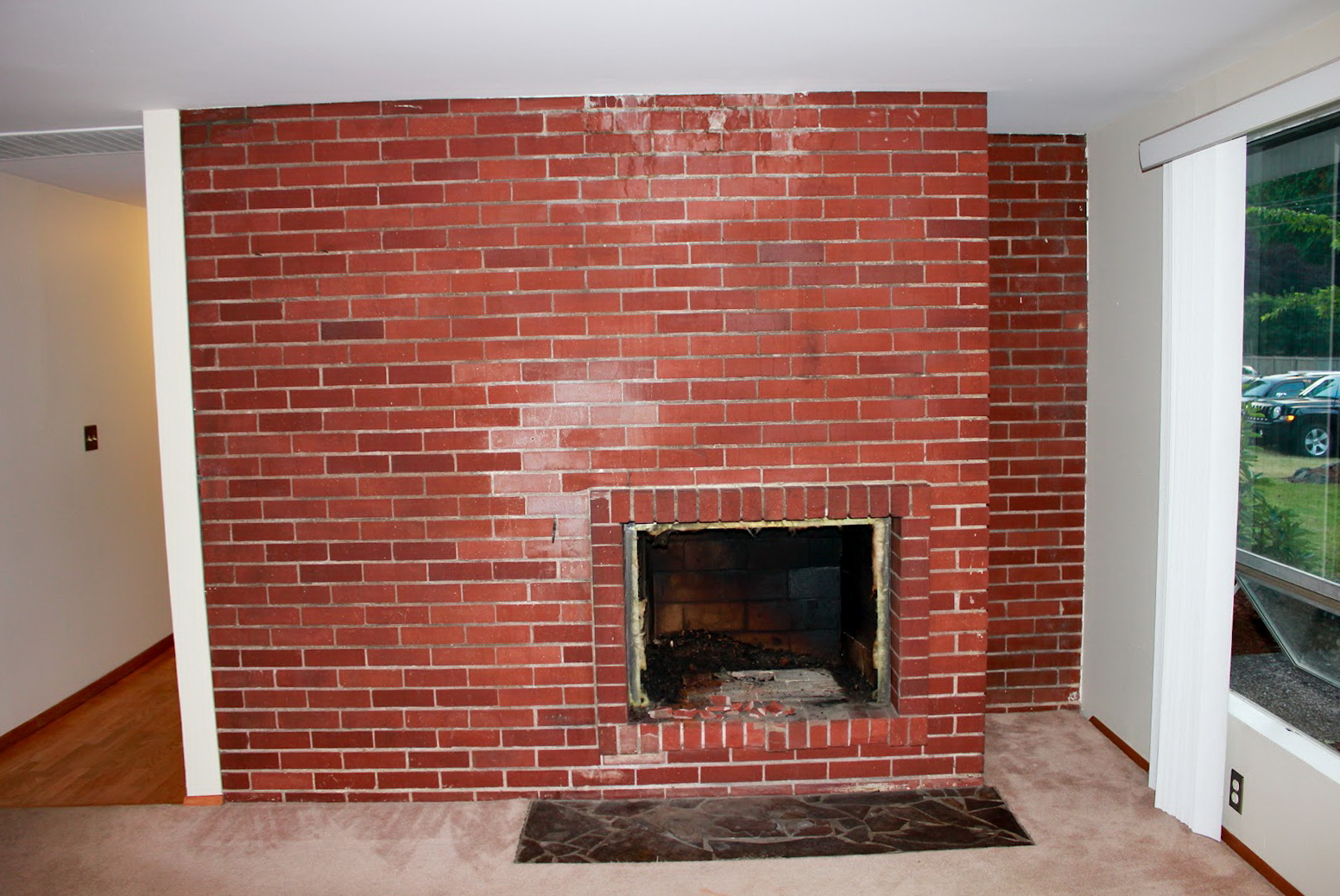 Fireplace brick paint colors home design ideas for Fireplace paint color ideas